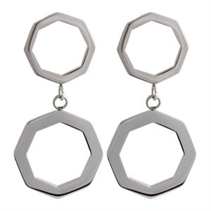 Picture of Silver Octagonal Duo Hoops